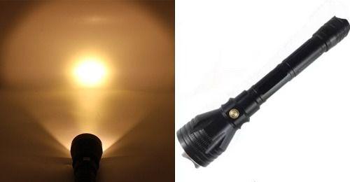 Lanterna Mergulho Profissional Led Ipx 8 Amarelo