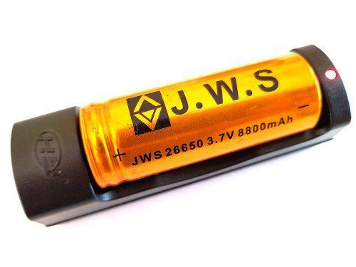 Carregador + Bateria  lanterna Jws 26650 8800mah 3.7v