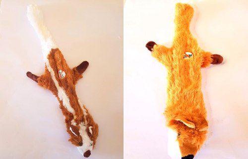 Brinquedo de Pelúcia Cães  gatos Bichos Sem Enchimento