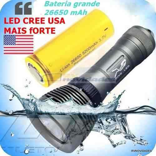 Lanterna De Mergulho Profissional Led Cree Usa 17000 Lumens