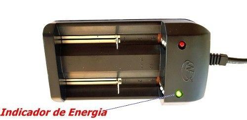 Carregador Duplo + 2 Baterias X900 26650 18000mAh 4.2v