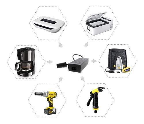 Adaptador Conversor fonte Para Compressor Mini Geladeira Black&decker Aspirador Politriz 12v