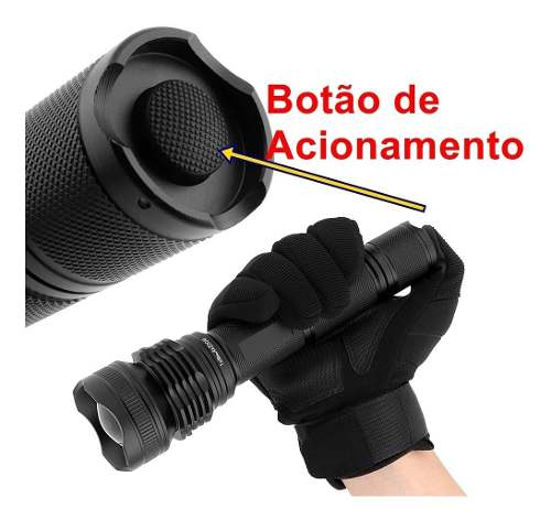 Lanterna Tática Police Led Xml T9 Novo Xhp-50 Recarregável