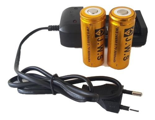 Bateria para lanterna  Carregador Duplo 26650 8800mah 3.7v Original