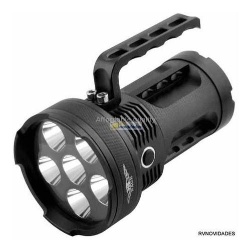 Lanterna Holofote Monster Police 280000 Lumens Com 6 Leds T6 e 3 Baterias
