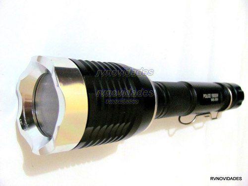 Lanterna Tática Lampião Zoom Led Cree T6 15000w 42000 Police