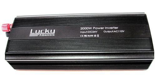 Inversor De Energia 2000w Transformador Conversor 24v P/110v
