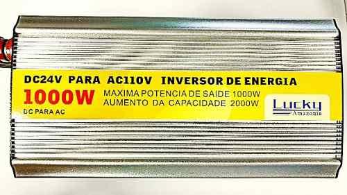 Inversor Transformador Conversor1000w Veicular 24v 110v Usb