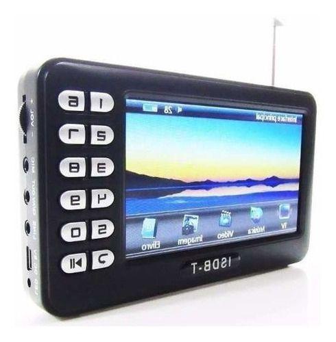 Tv Portátil Digital Tela 4.3 Polegadas Com Entrada Usb Rádio