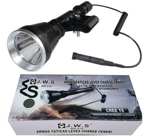 Lanterna Caça Mais Forte + Potente 5.040 Lu +2 Baterias