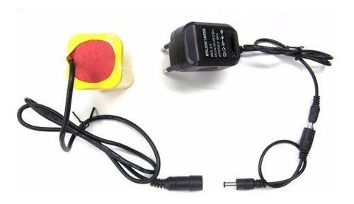 Bateria + Capa + Carregador Bivolt P/ Farol Bike 4,2v Forte