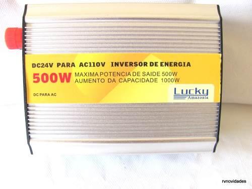 inversor de energia 500w transformador conversor 24v p/110v