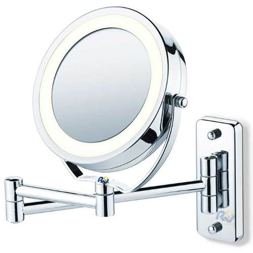 Espelho Articulado Para Banheiro Com Nova Iluminação Led