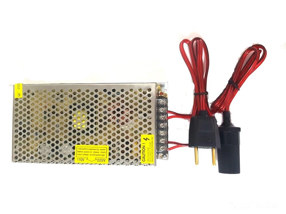 Adaptador 110/220v 12v para compressor Aspirador Geladeira Frigobar Politriz