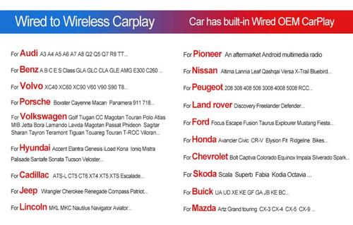 Apple Car Play Wireless Sem Fio Em Carros Com Carplay 3.0