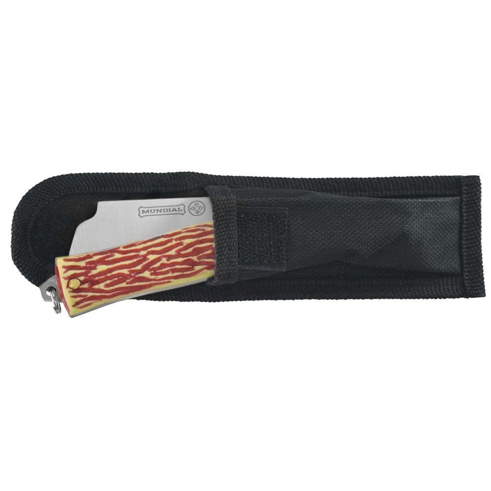 Canivete Esportivo Com Bainha Aço Inox Pesca Camping - Mundial