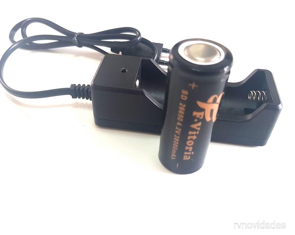 Carregador + Bateria F.Vitoria 26650 38000mAh 4.2v
