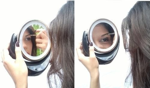 Espelho De Aumento 5x 1normal Iluminação Led Duplo Maquiagem