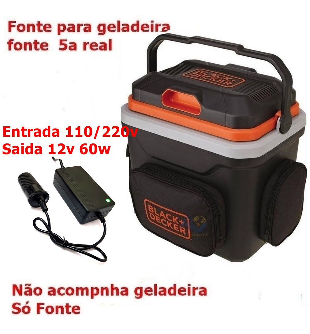 Fonte 110v 220v saida 12v 55w mini Geladeira,tv,GPS