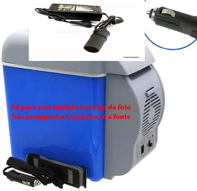 Fonte adaptador  para Geladeira Portátil da marca Cooling