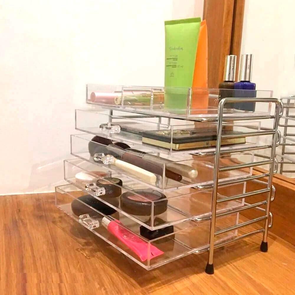 Gaveteiro em Acrílico com 4 gavetas Organizador 66