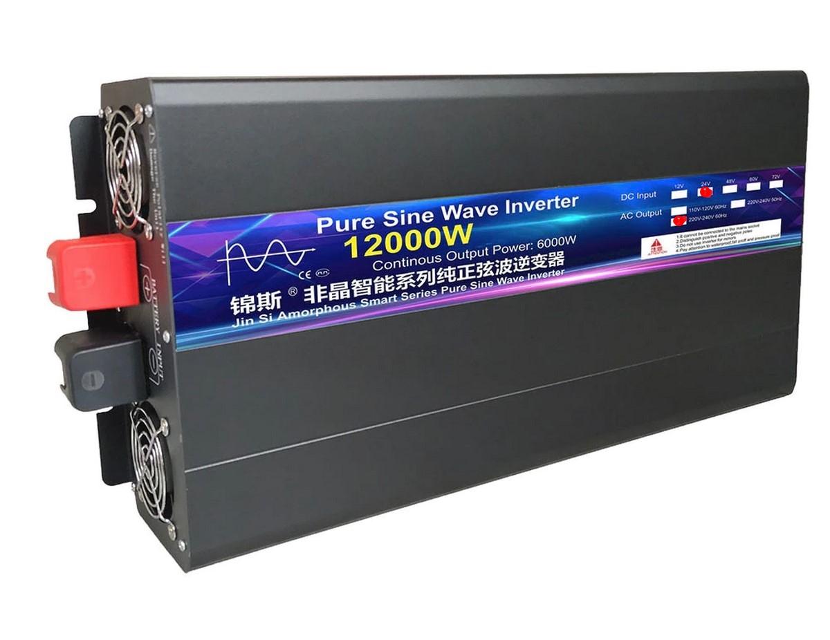 inversor 24v para 220v 12000w 60hz onda senoidal pura
