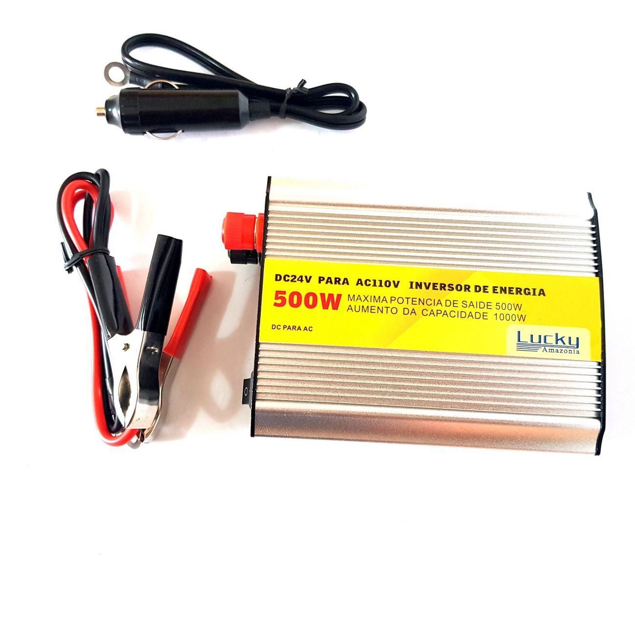 Inversor Transformador Conversor 500w Veicular 24v 110v+ Usb