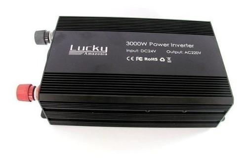 Inversor Transformador Veicular Automotivo 3000w 24v 220v