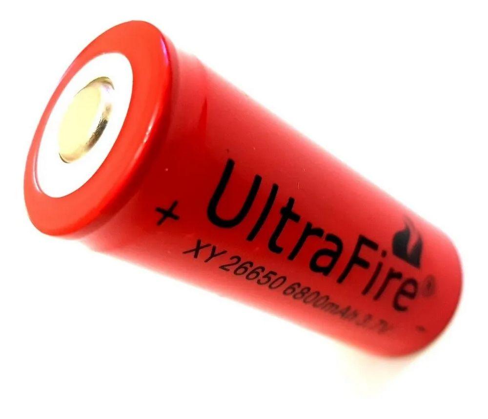 Kit 2 Bateria Recarregavel + carregador 26650 6800mah 3,7v original