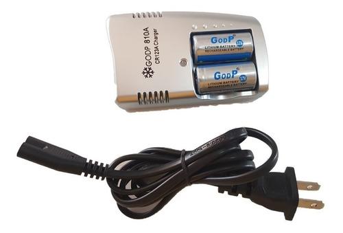 Kit Carregador + 2 Bateria 16340 Cr123 3.7v Original