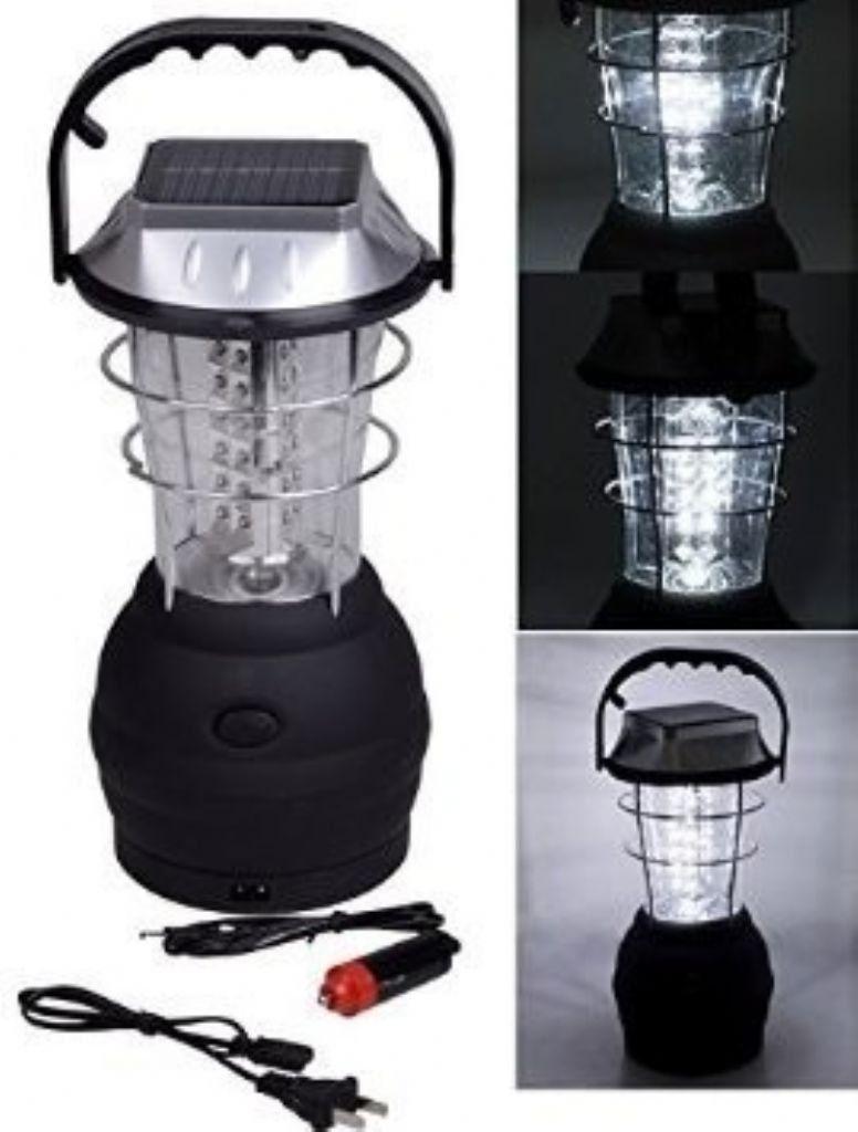 Lampião Elétrico Recarregável solar de LED