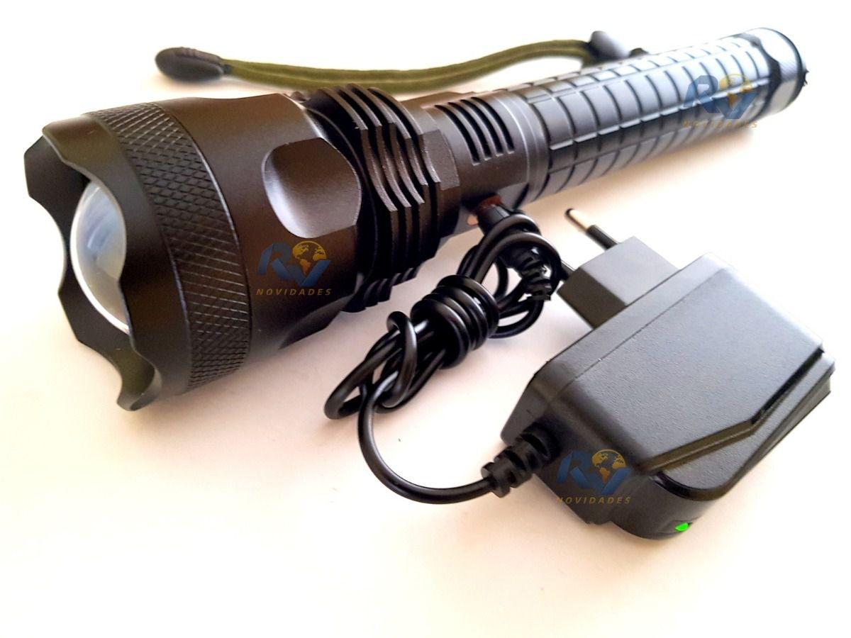 Lanterna Led Cree T9 Tática Sere Ouro + Potente + Canivete