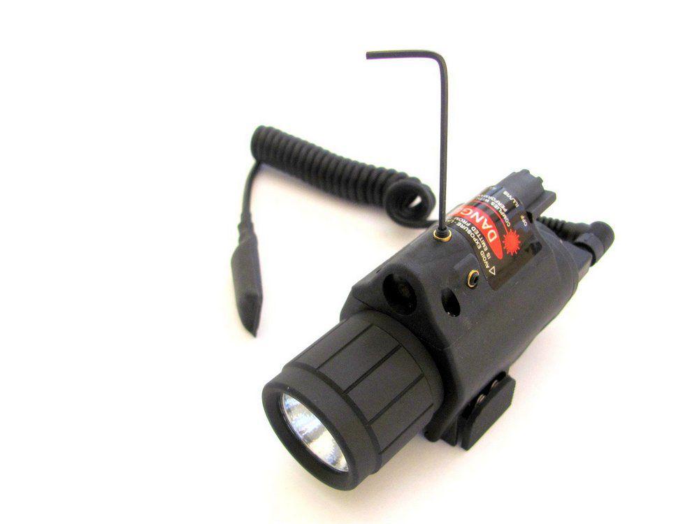 Lanterna Led Mira Laser Vermelho Paintball