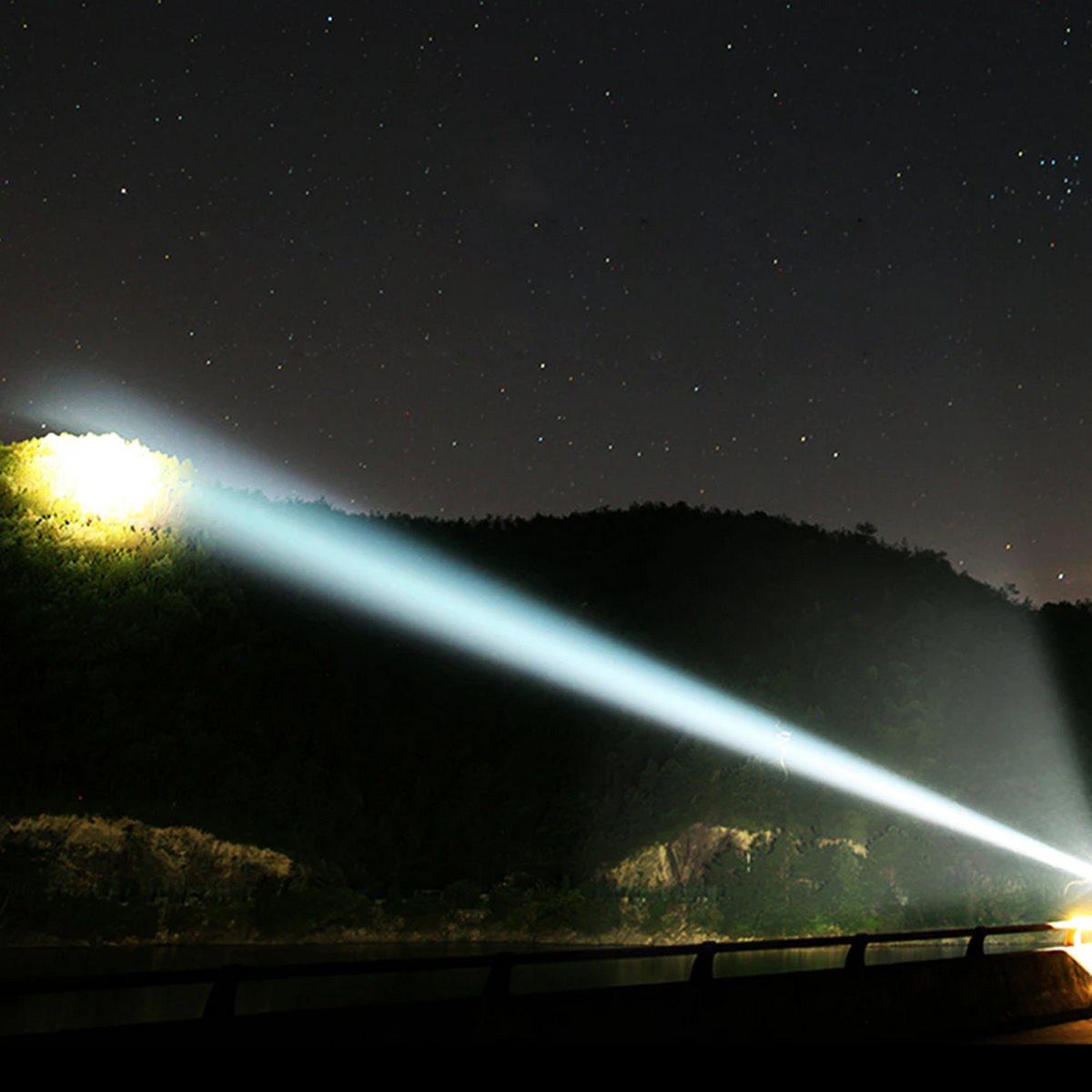 Lanterna led P10 super convexa 7 núcleos lente grande 6800Lu