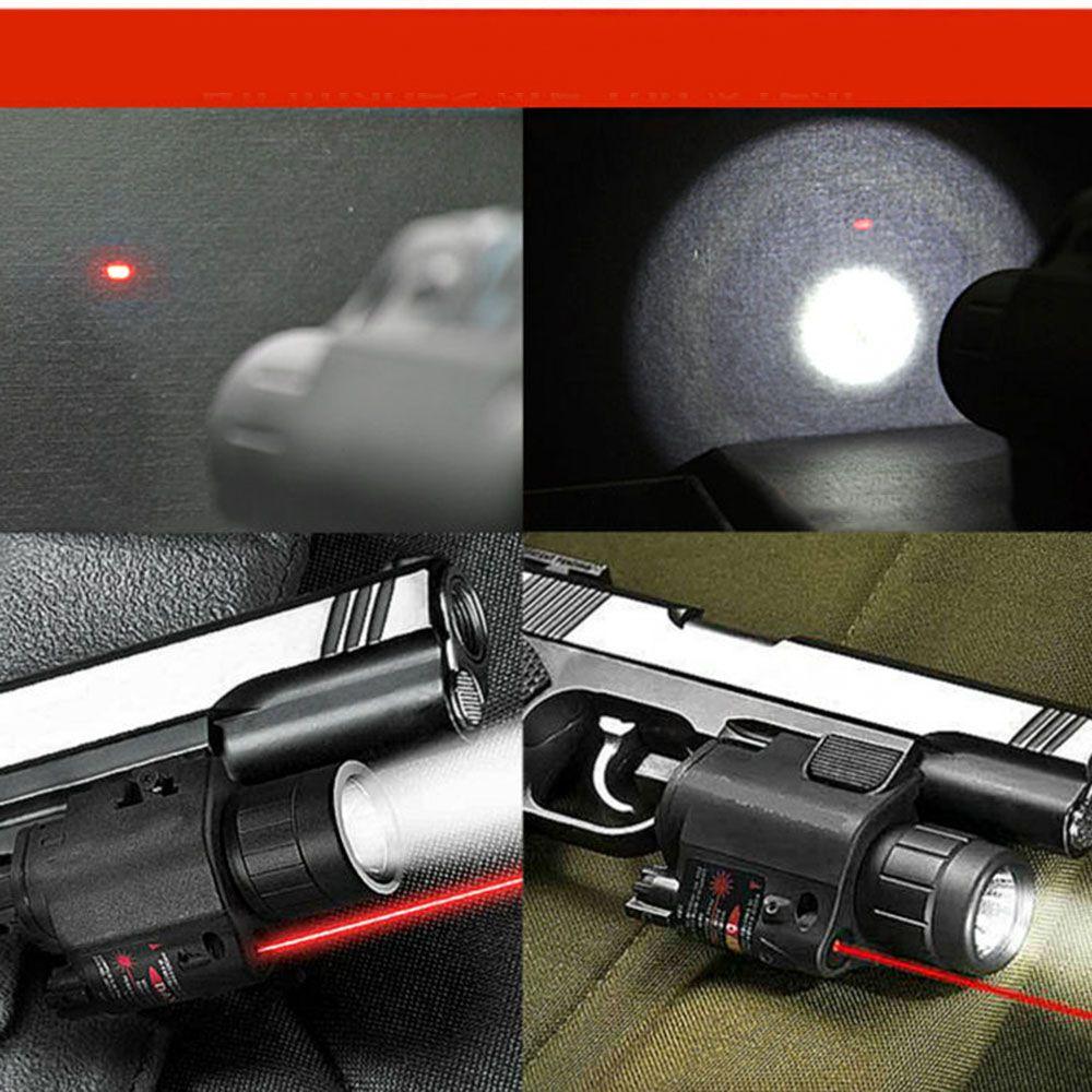 Lanterna LED Tatíco  Laser Vermelho Trilho Airsoft