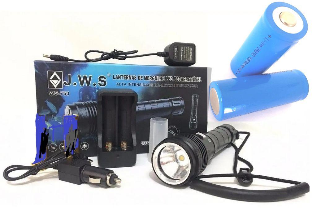 Lanterna Mergulho Profissional Led Cree T9 Ws-750 5260000 L