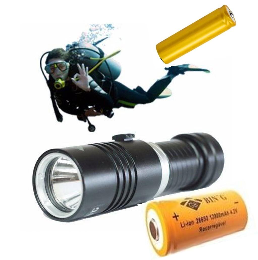 Lanterna Mergulho Profissional Led Cree Xm-l2 Mais Forte