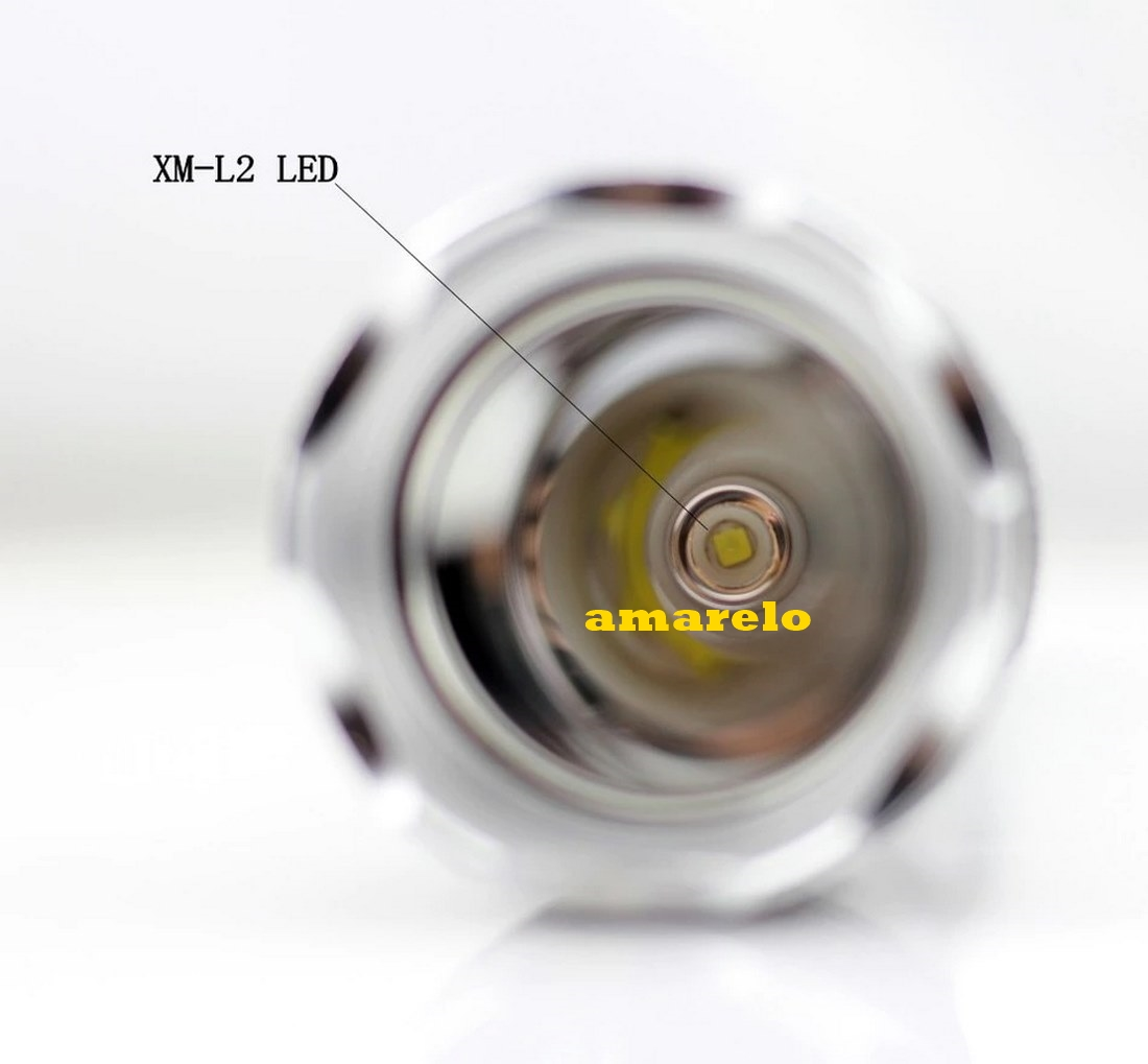 Lanterna mergulho profissional LED Ipx 8L2 Novo Amarelo