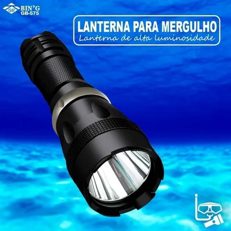 Lanterna Mergulho recarregável Profissional Led XM-L2