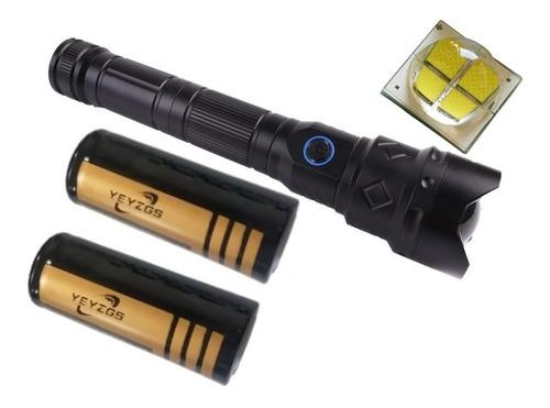 Lanterna T9 + Forte Potente Novo Led T9 4 Janelas Super