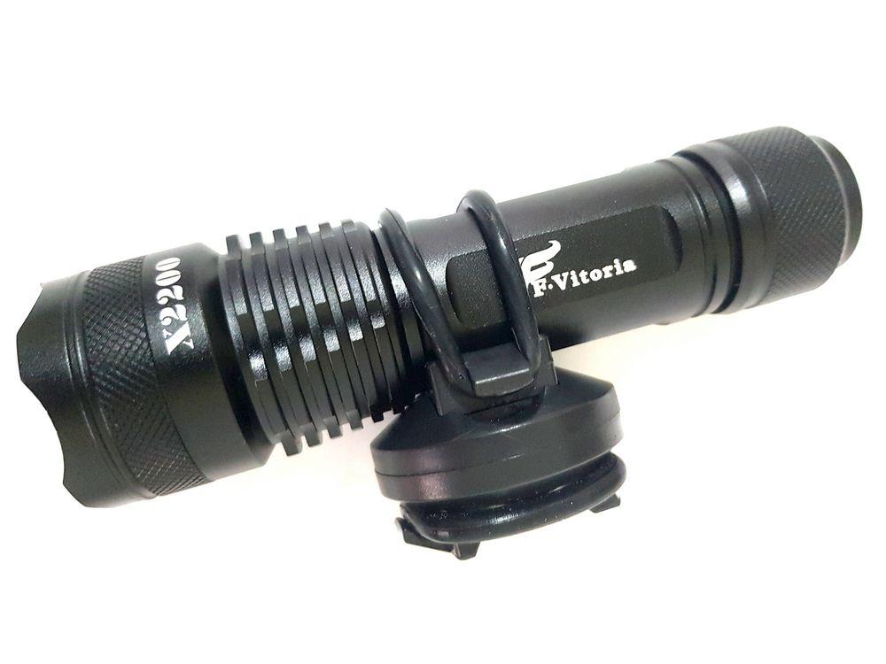 Lanterna T9 recarregavel + suporte para bicicleta Ultra Potente