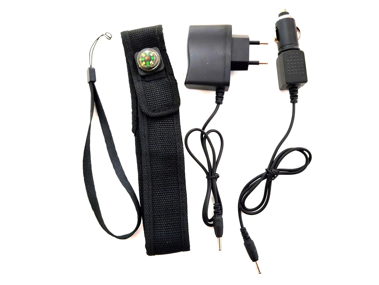 Lanterna Tática Police holofote 12000w 36000l Led T6 Recarregável
