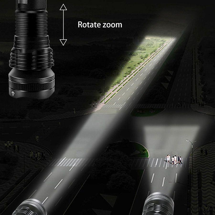 Lanterna Led T9 Tática XHP-5O Recarregável
