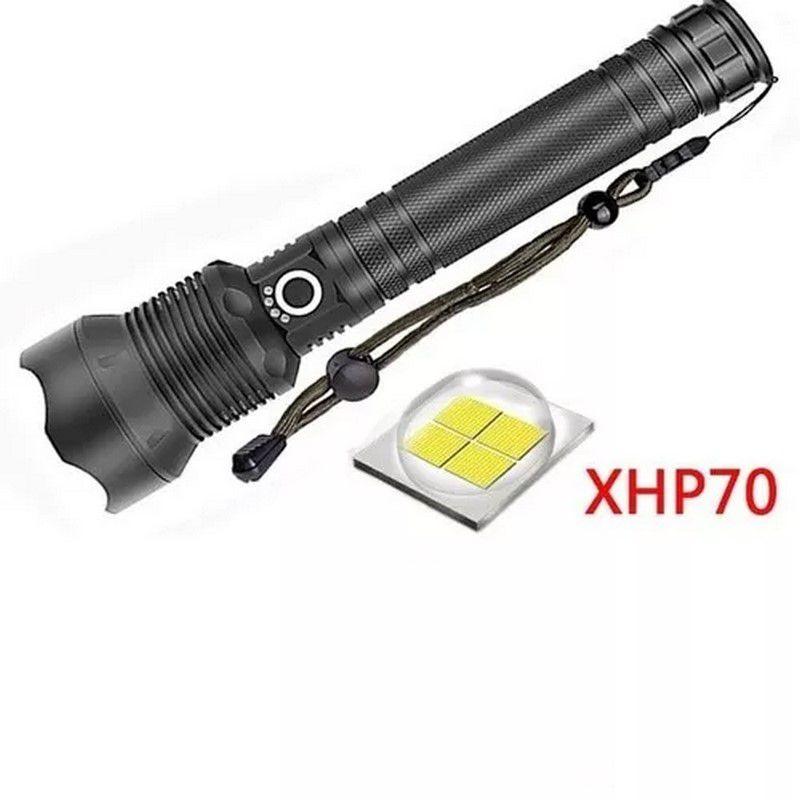 Lanterna Tática Police Led Xml T9 Novo Xhp-70 Recarregável