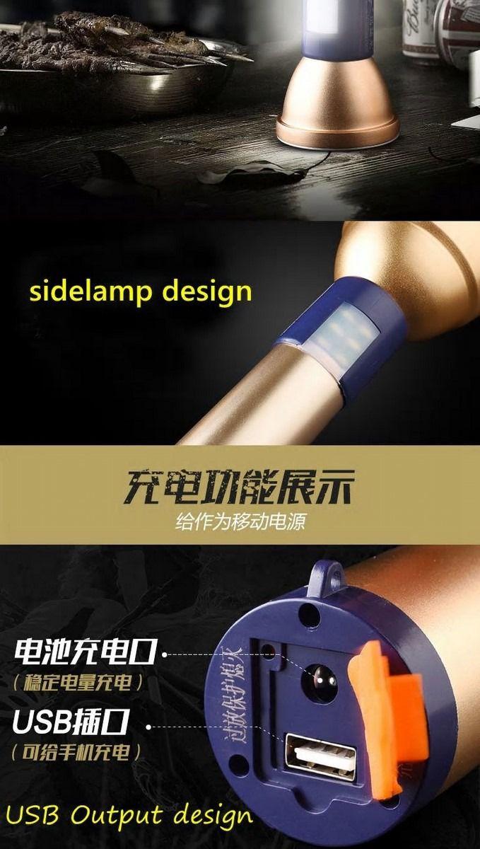 Lanterna Tática  Recarregável Novo Led MT G2 Super
