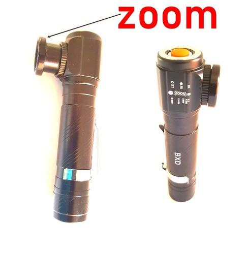 Lanterna Tática Recarregável Usb Zoom Led L2