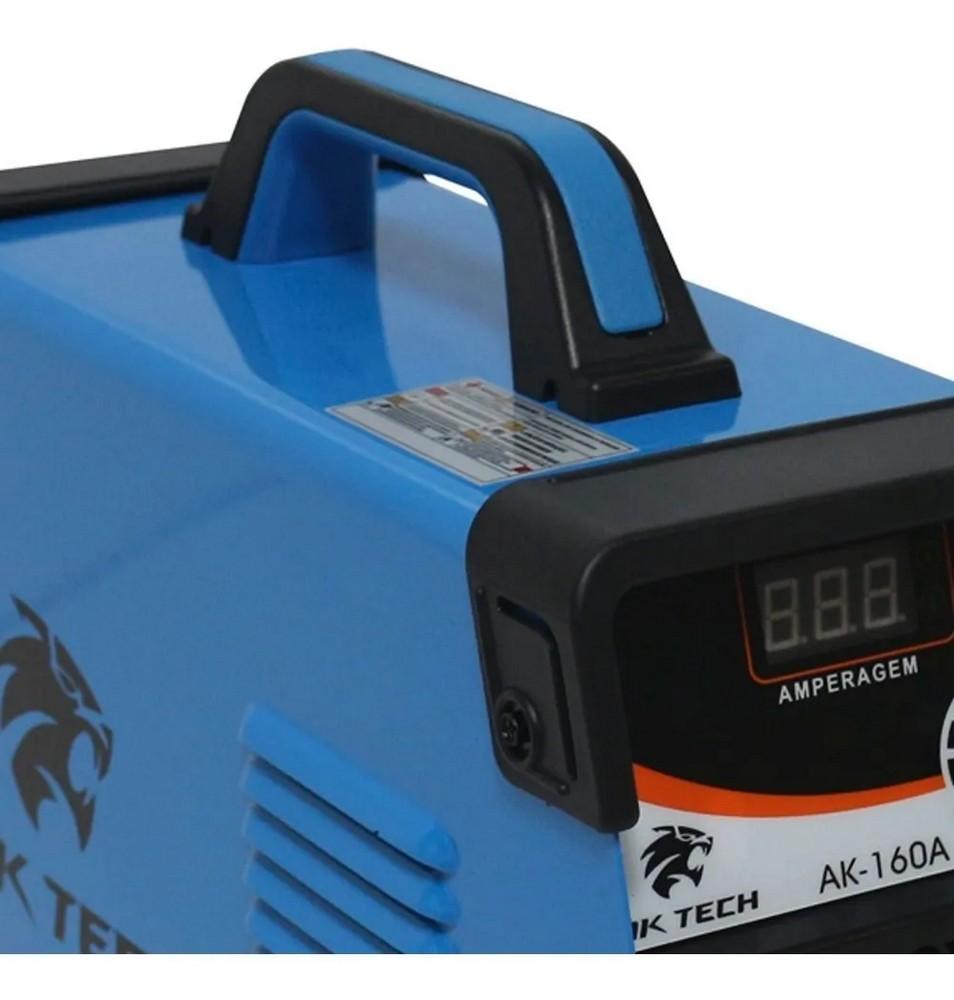 Maquina Inversora de Solda 160A 220V com Display Digital AK TECH