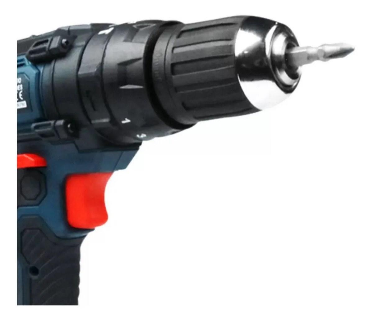 Parafusadeira furadeira 24v Impacto+2 Baterias + Carregador