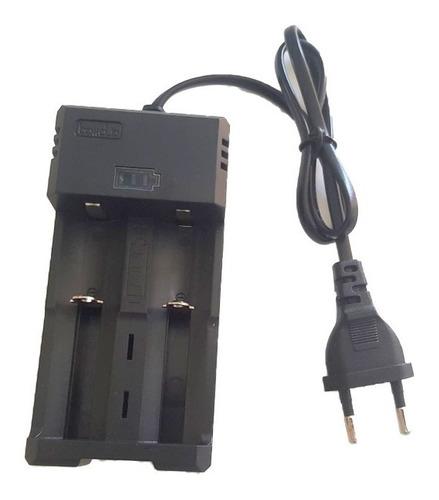 Super Carregador Duplo + 2 Baterias 26650 Para Lanterna T9