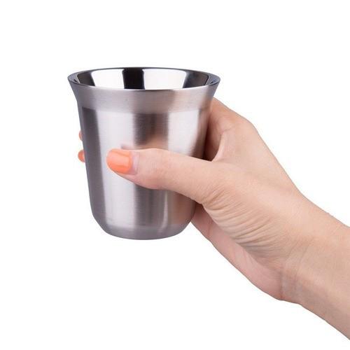 Xícaras Nespresso Espresso Longo Aço Inox Escovado